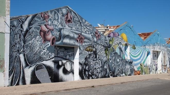 arte urbana setubal portogallo