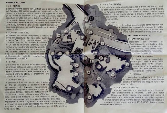visitare troglodita  Rochemenier mappa