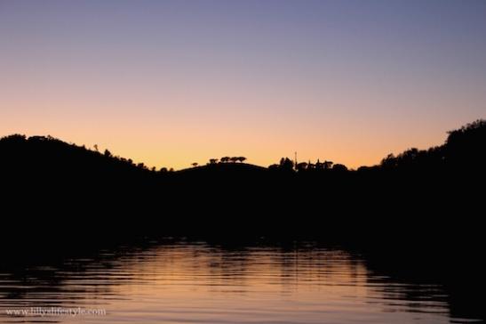 tramonto lago alqueva