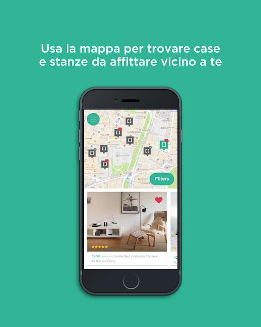 app cellulare affitti stanze europa