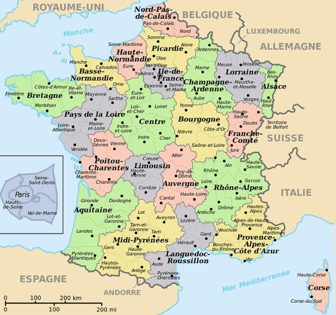 cartina geografica francia