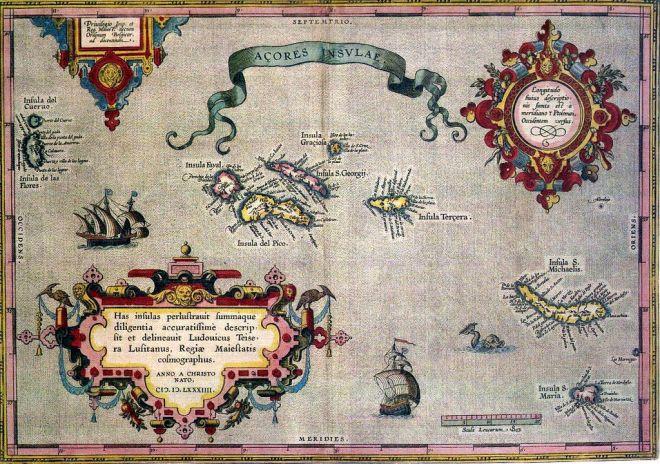 carta geografica azzorre