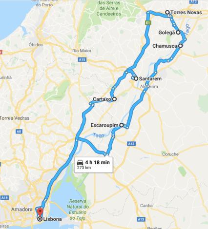 portogallo in auto itinerario