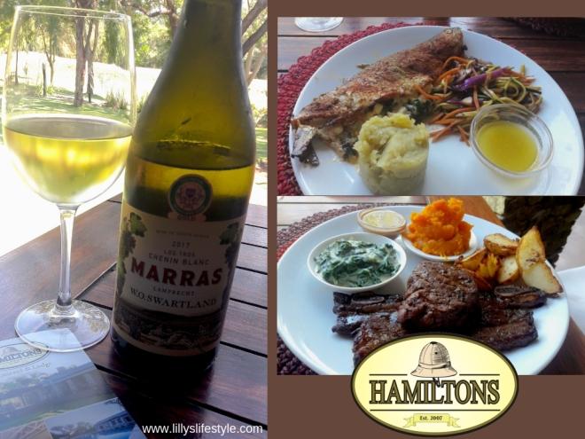 cosa mangiare sudafrica hamilton's ristorante