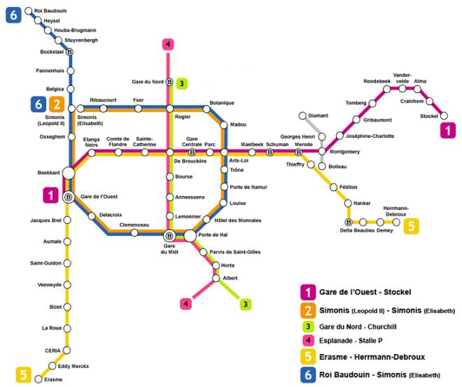 linee metropolitana bruxelles